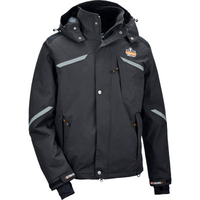 Ergodyne® N-Ferno® 6466 Thermal Jacket, Black, XL, 41115