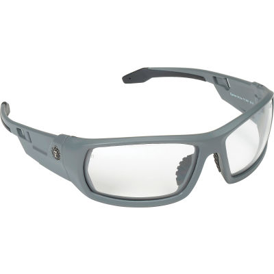 Ergodyne® Skullerz® Odin Safety Glasses, Clear Lens, Matte Gray Frame