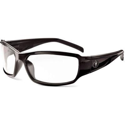 Ergodyne® Skullerz® Thor Safety Glasses W/Fog-Off, Clear AF Lens, Black Frame