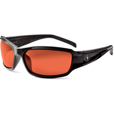 Ergodyne® Skullerz® Thor Safety Glasses, Copper Lens, Black Frame