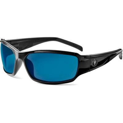 Ergodyne® Skullerz® Thor Safety Glasses, Blue Mirror Lens, Black Frame