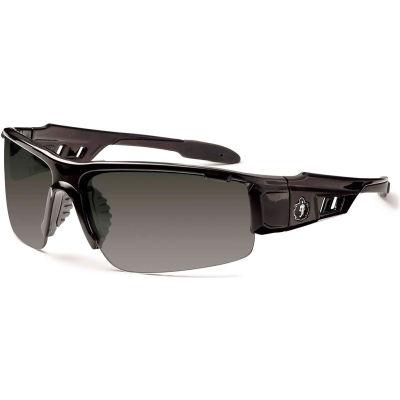Ergodyne® Skullerz® Dagr PZ Safety Glasses, Polarized Smoke Lens, Black Frame