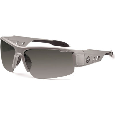 Ergodyne® Skullerz® DAGR-AF Safety Glasses, Matte Gray, Anti-Fog Smoke Lens, 52133