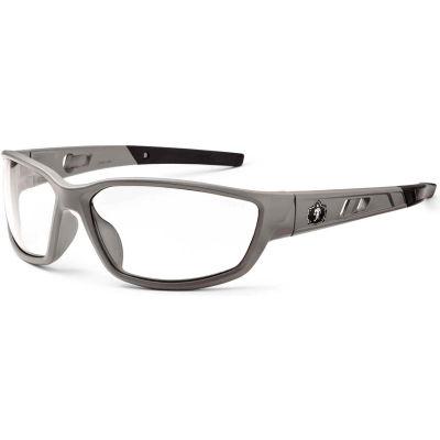 Ergodyne® Skullerz® Kvasir Safety Glasses, Clear Lens, Matte Gray Frame