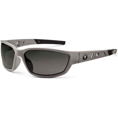 Ergodyne® Skullerz® Kvasir Safety Glasses, Smoke Lens, Matte Gray Frame