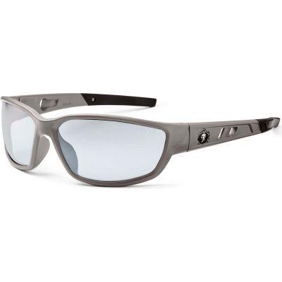 Ergodyne® Skullerz® Kvasir Safety Glasses, Indoor/Outdoor Lens, Matte Gray Frame