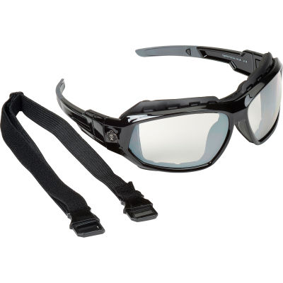 Ergodyne® Skullerz® Loki Safety Glasses/Goggles, Indoor/Outdoor Lens, Black Frame