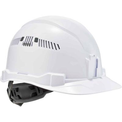 Ergodyne Skullerz® 8972 Hard Hat Cap Style, Ratchet Suspension, Vented, Class C, White