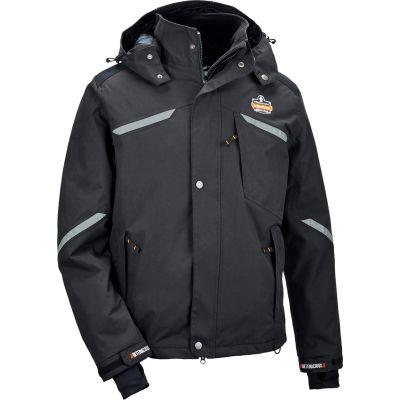 Ergodyne® N-Ferno® 6466 Thermal Jacket, Black, L, 41114