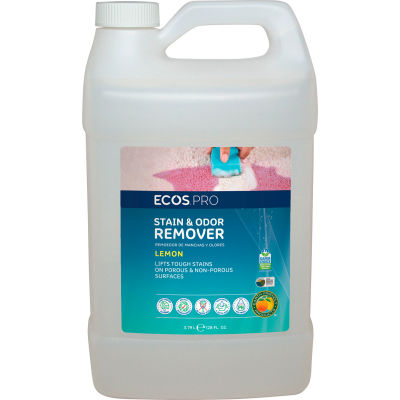 ECOS® Pro Stain & Odor Remover, Gallon Bottle, 4 Bottles - PL9707/04