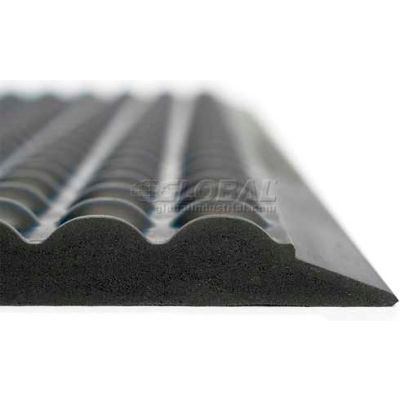 "Ergomat® Basic Bubble Anti Fatigue Mat 5/8"" Thick 3' X 6' Black"
