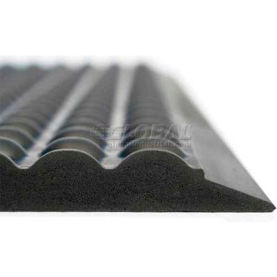 "Ergomat® Basic Bubble Anti Fatigue Mat 5/8"" Thick 4' X 12' Black"