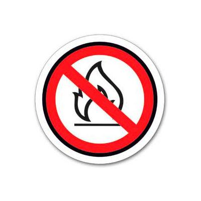 "Durastripe 16"" Round Sign - No Open Flames - No Text"