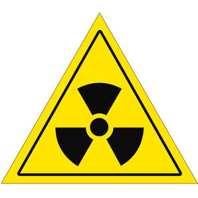"Durastripe 12"" Triangular Sign - Caution Nuclear"