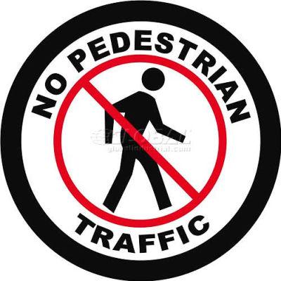"""Durastripe 12"""" Round Sign - No Pedestrian Traffic"""