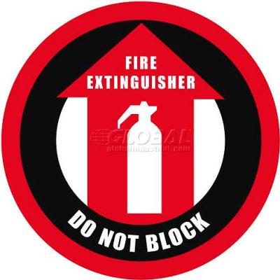 """Durastripe 12"""" Round Sign - Fire Extinguisher Do Not Block"""