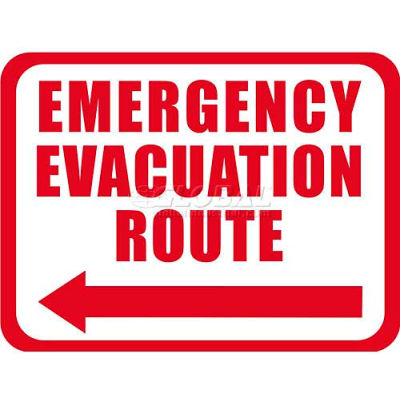 "Durastripe 12""X9"" Rectangle - Emergency Evacuation Route"
