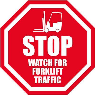 "Durastripe 16"" Octagone Sign - Stop Watch For Forklifts"