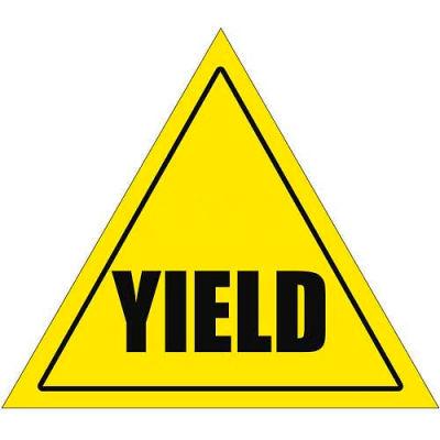 "Durastripe 20"" Triangular Sign - Caution Yield"