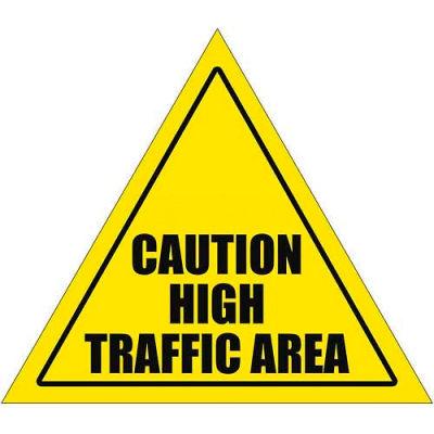 "Durastripe 20"" Triangular Sign - Caution High Traffic Area"