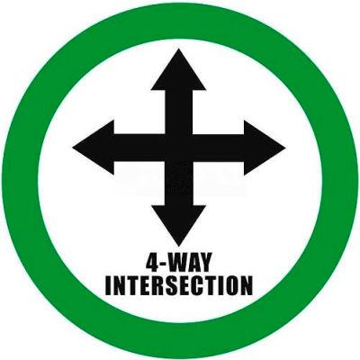 """Durastripe 20"""" Round Sign - 4-Way Intersection"""