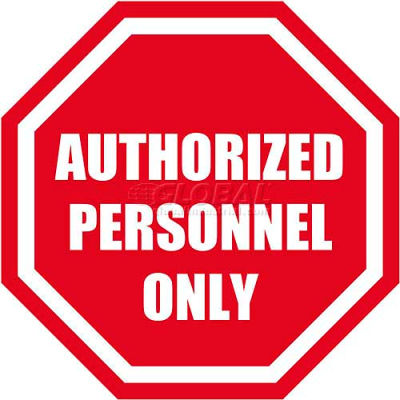 """Durastripe 24"""" Octagone Sign - Authorized Personnel Only"""