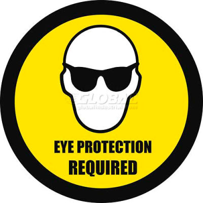 """Durastripe 24"""" Round Sign - Eye Protection Required"""