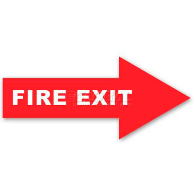 Durastripe 24X8 Arrow Sign - Fire Exit