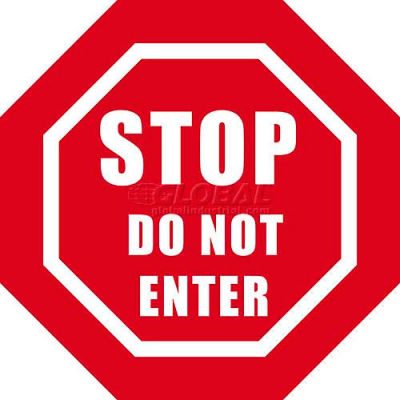 "Durastripe 30"" Octagone Sign - Stop Do Not Enter"