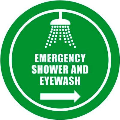 """Durastripe 30"""" Round Sign - Emergency Shower And Eyewash"""