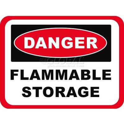 "Durastripe 50""X32"" Rectangle - Danger Flammable Storage"