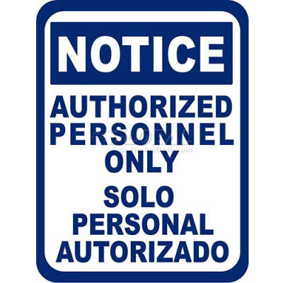 "Durastripe 50""X32"" Rectangle - Notice Authorized Personnel Only"