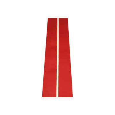 """Durastripe Inline Print 4"""" X 50' Red With .25"""" Glow Stripe"""