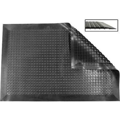 "Ergomat® Nitril Smooth Anti Fatigue Mat 1/2"" Thick 2' x 7' Black"
