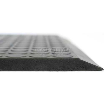 "Ergomat® Basic Smooth Anti Fatigue Mat 5/8"" Thick 2' x 10' Black"