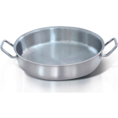 "Homichef HOM463007 - Shallow Sauté Pan W/Handles, Stainless Steel With Aluminum Core, 11-3/4"" Dia."