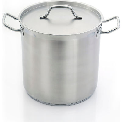 """Homichef HOM483636 - Stock Pot, Stainless Steel With Aluminum Core, 14-1/8"""" Dia."""