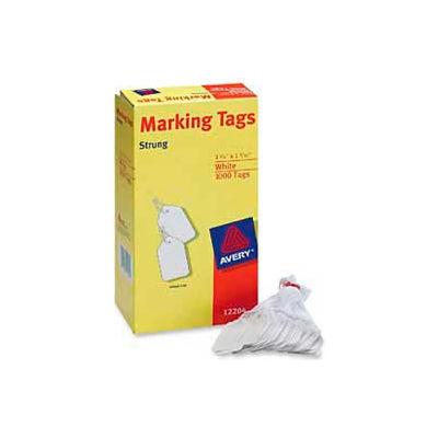"Avery® Marking Tags, 1-3/4"" x 1-3/32"", White, 1000 Tags/Box"