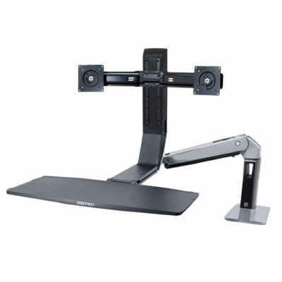 Ergotron® WorkFit-A Dual Standing Desk Workstation