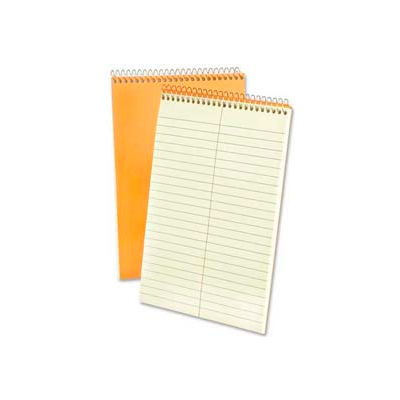 "Esselte® Rigid Kraft Covered Steno Book, 6"" x 9"", Gregg Ruled, Green Tint, 60 Sheets/Pad"
