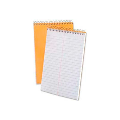 "Esselte® Rigid Kraft Covered Steno Book, 6"" x 9"", Gregg Ruled, White, 70 Sheets/Pad"