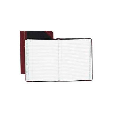 """Boorum & Pease® Account Book, Record Ruled, 9-5/8"""" x 7-5/8"""", Black Cover, 300 Sheets/Pad"""