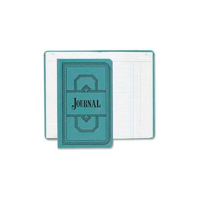 """Boorum & Pease® Account Book, Journal Ruled, 12-1/8"""" x 7-1/2, Blue Cover, 500 Sheets/Pad"""