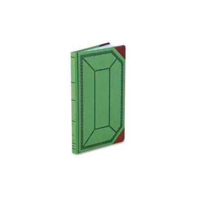 """Boorum & Pease® Account Book, Record Ruled, 12-1/2"""" x 7-3/4"""", Olive Green Cover, 300 Sheets/Pad"""