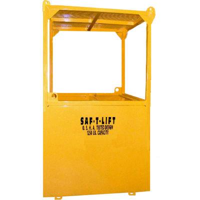 Saf-T-Lift 3' x 3' Steel Personnel Basket 1250lb. Capacity, Hi-Vis Safety Yellow - PB3X3