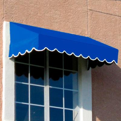 "Awntech EF24-8BB, Window/Entry Awning 8' 4 -1/2"" W x 4'D x 2'H Bright Blue"