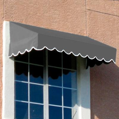 Awntech EF24-3G, Window/Entry Awning 3-3/8'W x 2'H x 4'D Gray
