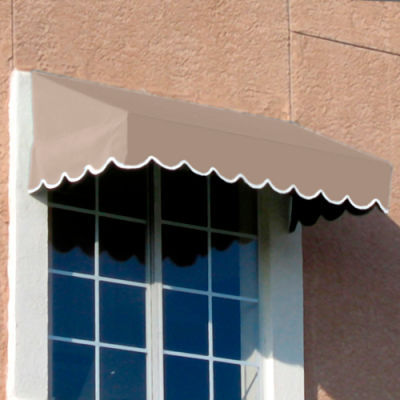 "Awntech EF24-8L, Window/Entry Awning 8' 4 -1/2"" W x 4'D x 2'H Linen"