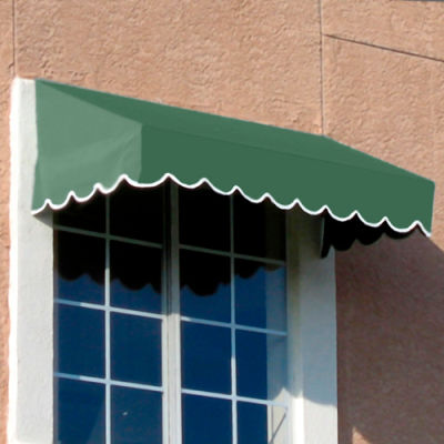 "Awntech EF23-6S, Window/Entry Awning 6' 4-1/2"" W x 3'D x 2'H Sage"