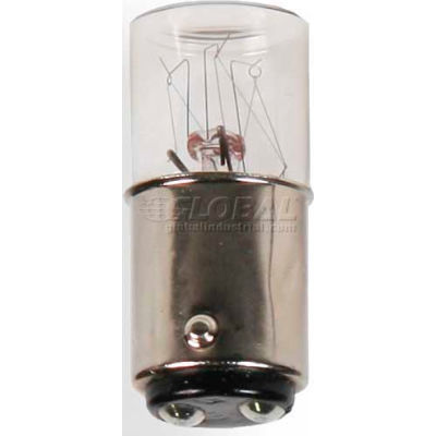 Edwards Signaling 2705W120V25PK 5W Incandescent Bulb For 70 Mm Stacklight 120V 25 Pack